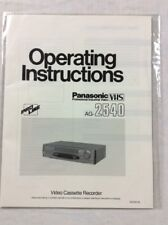 Original Panasonic Ag-2540 Vhs Video Recorder Operating Instructions Manual