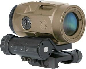 Sig Sauer SOJ3M011 Juliet3 3x22mm Micro Magnifier w/ Push Button Mnt & Spacers