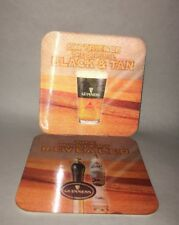 Guinness Holographic Coaster, Experience Black & Tan, Mystery Revealed, set of 7