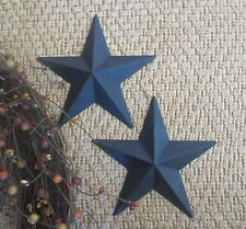 "Lot of 2 Country Primitive 6"" Black Barn Stars Rustic Wall Decor Metal Texas"