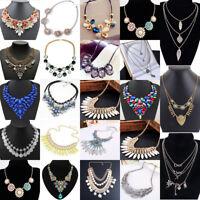 Womens Chain Statement Chunky Collar Pendant Choker Bib Necklace Jewelry Lot