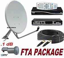 "33"" SATELLITE DISH ANTENNA + DREAMBOX DM100 FTA RECEIVER + LNB +100 FT RG6 CABLE"