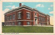 High School in Eastport ME Postcard