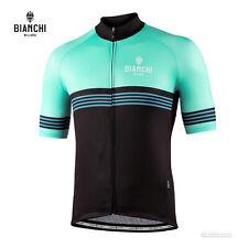 NEW 2021 Bianchi Milano PRIZZI Cycling Jersey : BLACK/CELESTE