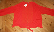 NEW red NEXT tie-front cardigan  size small