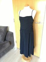 Ladies OASIS Dress Size 20 Black Stretch Tiered Smart Party Evening