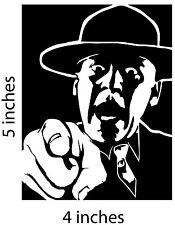 2 R LEE ERMEY Stickers Cut Vinyl Decal Full Metal Jacket Private Pyle
