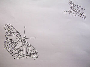 Embroidery Tablecloth printed embroider lace edge large Butterfly cotton CSOO86