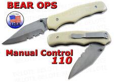 Bear OPS G-10 Manual Control Clip Point MC-110-DS4-P-SR