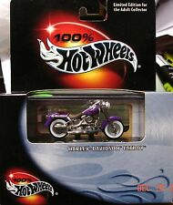 100% Hot Wheels Harley Davidson Fatboy Purple International Shipping