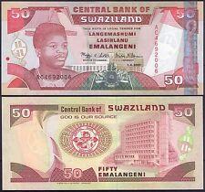 SWAZILAND 50 Emalangeni 2001 Pick 31  SC / UNC