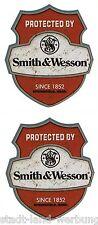 2x Smith&Wesson Aufkleber Sticker Oldschool Retro Hot Rod Rockabilly US Car OEM