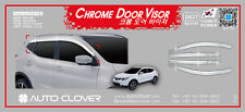 Autoclover Chrome Wind Deflectors Windabweiser 6P for 2014 ~ 2017 Nissan Qashqai
