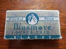1940s Dinsmore Super Thin Double Edge Razor Blades Original Package BOX ONLY