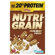 Kellogg's Healthy Nutri-Grain Iron Man Food Protein Breakfast Cereals 290g