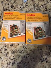 2 Kodak Glossy Premium Photo Paper Inkjet Instant Dry, 4 x 6, 100per Pack.