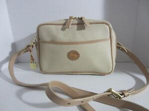 Vintage Dooney & Bourke  Light  Cream   Leather Cross body Shoulder bag .