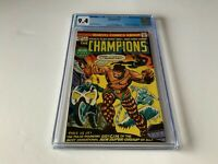CHAMPIONS 1 CGC 9.4 WHITE PAGES BLACK WIDOW GHOST RIDER MARVEL COMICS 1975