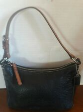 Pre-owned Small Black Leather Coach Shoulder Bag Hand Bag