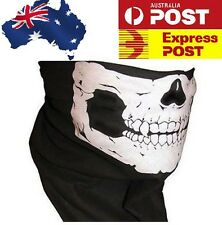 1 x Face Mask Bandana Ghost Skull Neck Warmer Biker Costume Fancy Dress Bikie AU