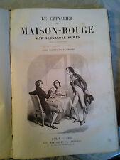 Le chevalier de MAISON-ROUGE, DUMAS, ill. Lampsonius, Marescq 1852