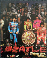 THE BEATLES POSTER PAGE . 1967 SGT PEPPER LP ALBUM CD COVER OUTTAKE . D33
