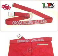 Cintura Canapa Rossa Croce Rossa Italiana Rossa Nuovo Capitolato Vetrificata New
