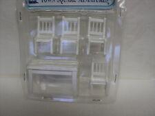 DOLLHOUSE KITCHEN TABLE SET/ 5-PC. / WHITE/ 1:24TH SCALE