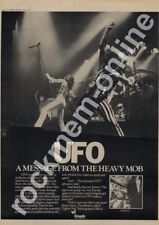 UFO Lights Out Chrysalis CHR 1127 LP Advert 1977