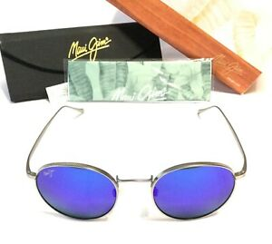 Maui Jim Nautilus Sunglasses Titanium Frames w/ Blue Hawaii Lenses MJ 544-11