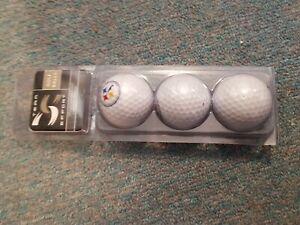 Vintage Pittsburgh Steelers NFL Licensed Golf Balls Set of 3 White