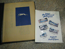Vintage Greyhound Bus Line Scrapbook ~ Writen History, Schedules, Pictures