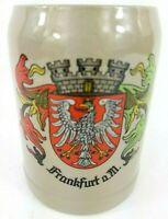 Frankfurt a.M. West Germany Eagle Coat of Arms Stein 0.5 L Mug Handled Cup EUC