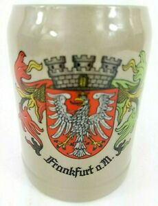 Frankfurt a.M. West Germany Eagle Coat of Arms Stein 0.5 L Mug Handled Cup EUC
