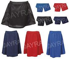 Girls / Ladies School Skort (Skirt with a built in Lycra Short) Netball, Sports