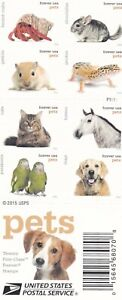 2016 US Stamps 5125a Pets