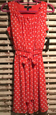 NWT~GNW~RED~POLKA DOT~WITH TIE~SLEEVELESS~DRESS~8