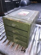 VTG Steelmasters File-A-Way Chest Small Metal 4 Drawer Industrial Parts Cabinet