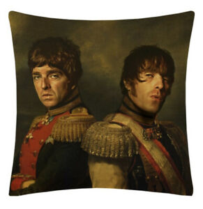 NEW DESIGN Oasis portrait cushion cover, Liam Gallagher, Noel Gallagher, Indie