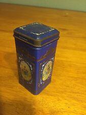 Vintage Tin Metal Box Hinged Small England 1.5 x 1.5 x 4