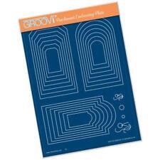 Clarity Stamps Groovi Pergamena Rilievo A5 Placca - GRANDE NIDIFICATI ETICHETTE
