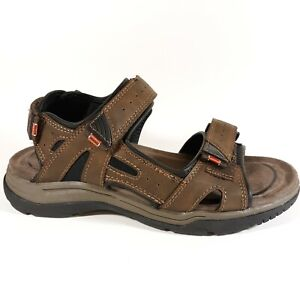 Earth Spirit Adult Size 8 US Hiking Sandals Brown Outdoor Camp Nature Sport Mens