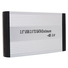 "Hot 3.5"" External SATA Data Caddy Hard Disk Drive HDD Enclosure Case to USB 2.0"