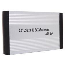 "Hot 3.5"" External SATA Data Caddy Hard Disk Drive HDD Enclosure Case to USB 2.0"