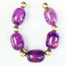Agate Drum Pendant Bead H02336 5Pcs/Set 13x10mm Purple Dragon Veins