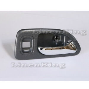 Inside Door Handle Gray Rear Right Fits 94-97 Honda Accord Brand New