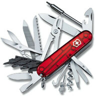 Victorinox Cybertool 41, Rot Transparent, auf Wunsch mit kostenloser Gravur
