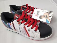 Japanese multi-color sneakers Athletic Shoes red/black/blue unique flashy size 8