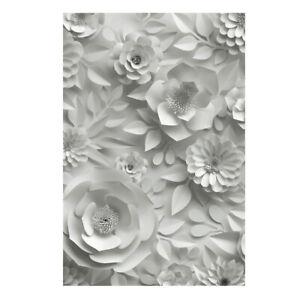 5x7ft White Flower Wall Photography Wedding Backdrop Photo Background Decor