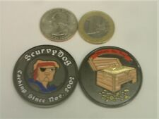 * Scurvydog Geocoin Pirate Scurvy Dog treasure chest Trackable